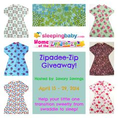 Zipadee-Zip Slumber Sack Giveaway - Queen of Savings - Product Reviews & Giveaways, Coupons, Daily Deals & Freebies