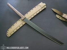 Miller Bros Blades M-13 Tactical  Sword available in Z-Wear PM, CPM 3V and Z-Tuff PM Steel. Handmade Swords, Knives & Tomahawks/Axes www.millerbrosblades.com