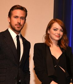 Ryan Gosling and Emma Stone at Santa Barbara Film Festival | POPSUGAR Celebrity UK