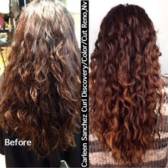 Hair Cut & Color Design by Carleen Sanchez - Reno, NV, United States. Hydrate your thirsty curls. Curls Color and Cut by Carleen Sanchez