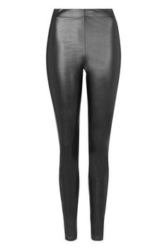 How to Style Faux Leather Leggings during every season by Pam Hetlinger, The Girl From Panama. Topshop Wet-Look Leggings.
