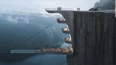 Norway's spectacular fjords make a dramatic backdrop for any building, and now a Turkish architectural design studio has proposed a boutique hotel built into one of the nation's famous cliffs. Architectural Design Studio, Architect Design, Resorts, Cliff Hotel, Floating Hotel, Hotel Architecture, Interesting Buildings, Stunning View, Beautiful