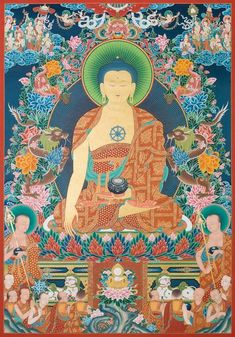 This Shakyamuni Buddha thangka, or paubha, painting is by Nepal's foremost artist, Mukti Singh Thapa. Collector's Edition prints are available for sale.