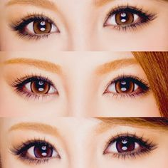 Gyaru eyes make up