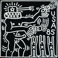 Untitled (1985) Keith Haring.