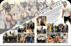 The John Cooper School, The Woodlands, TX (Spirit week coverage showcases dozens of students in dynamic design) Student Life Yearbook, Teaching Yearbook, Yearbook Staff, Yearbook Pages, Yearbook Covers, High School Yearbook, Yearbook Theme, Yearbook Design Layout, Page Layout Design