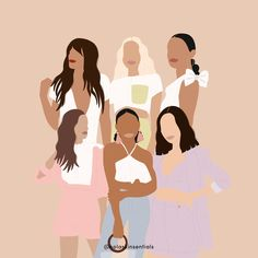 Join the squad! Here at NOLA we cater to health-conscious millennials. Helping you tap into your inner confidence! Black Girl Art, Art Girl, Portrait Illustration, Graphic Illustration, Arte Indie, Posca Art, Feminist Art, Ipad Art, Minimalist Art