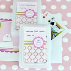 Personalized Playing Cards - Pink Cake at WeddingFavors.org