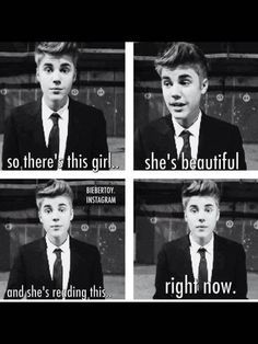 Omg thats so sweet , wen i'm sad i read this and then i smile again , he makes my FUCKING day ! X