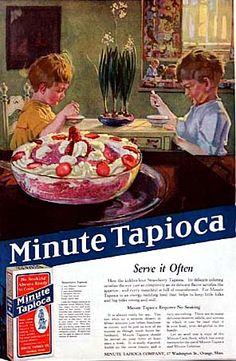 Minute tapioca pudding ad