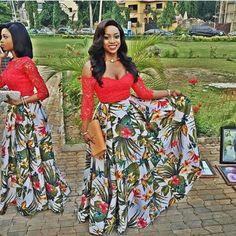 Maxi skirt ~African fashion, Ankara, kitenge, African women dresses, African prints, Braids, Nigerian wedding, Ghanaian fashion, African wedding ~DKK