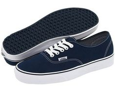 navy and white vans