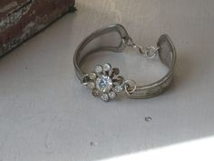 Spoon Bracelet  Upcycled Vintage Silverplate by laughingfrogstudio