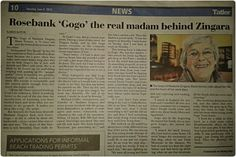 """""""The Gogo of Madame Zingara talks about her life, and the heart of her work days."""