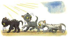 """Three kittens"" V. Lisbeth Zwerger, Story Sequencing, Kittens, Cats, Beatrix Potter, Cat Art, Illustration, Moose Art, Lion Sculpture"