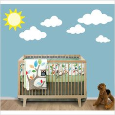 Clouds & Sun Wall Decal