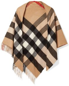Love this Burberry - Fringed Checked Cashmere Scarf - Camel Gucci Sweatshirt, Multi Coloured Scarves, Burberry Scarf, Woven Scarves, Full Figure Fashion, Winter Outfits For Work, How To Wear Scarves, J Brand Jeans, Outfits
