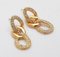 18K Real Gold Plated Fashion Chain Earrings -Fashion18K