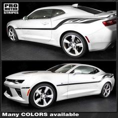 2016 and up Camaro Quarter Panel Spears Racing Stripes RS SS ZL1 Style 9