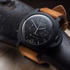 """One of my favorite pieces. It will one day be in my collection. I'm going to start a go fund me lol. The #Panerai #PAM317 """"Black Knight"""" #PaneraiCentral"""