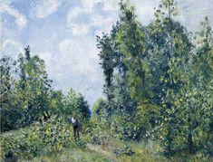Wanderer near the Wood, 1887 Camille Pissarro