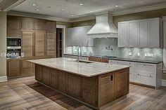 Sleek Contemporary Kitchen Idea Snaidero LUX Classic Arctic White Matte  Lacquer With Sepia Oak