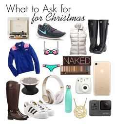 """""""Teenage girl christmas list"""" by eac-2003 ❤ liked on Polyvore featuring Tory Burch, Fujifilm, Beats by Dr. Dre, S'well, Urban Decay, NIKE, adidas Originals, GoPro, Vineyard Vines and Crosley"""