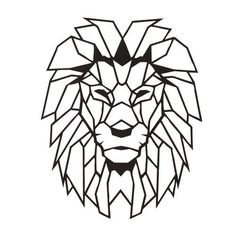 Cheap Plaques & Signs, Buy Quality Home & Garden Directly from China Suppliers:Antdecor Lion Head Metal Wall Art L, World Map and World Themed Wall Decor x 16 Geometric Lion, Geometric Drawing, Geometric Wall, Geometric Shapes, Antler Wall Decor, Metal Wall Decor, Metal Wall Art, Lion Origami, Wood Carving Art