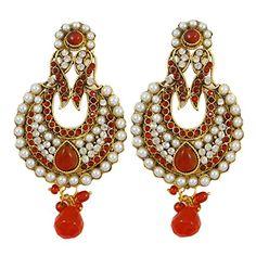 Indischen Traditionellen Kronleuchter Ohrring Set Bollywood Faux  Perlenschmuck Geschenk Für Sie Ethnischen Indischen Kronleuchter Ohrringe