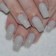 only gel unhas desenhadas, unhas decoradas delicadas, unhas delicadas, rosa velho Fancy Nails, Cute Nails, Pretty Nails, Gray Nails, Glitter Nails, Silver Nails, Fabulous Nails, Gorgeous Nails, Nail Lacquer