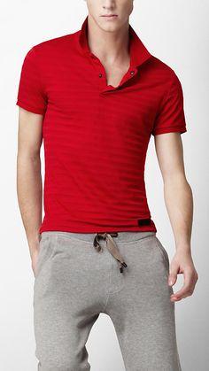 Burberry Stripe Polo Tshirt