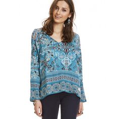 odyssey blouse MISTY TURQUOISE