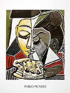 Picasso, Pablo : Tête d'une femme lisant