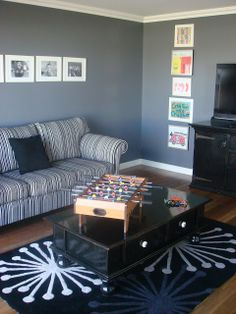Paint Colours {and giveaway winners} Grey Walls Living Room, Paint Colors For Home, Wall Paint Colors, Room Inspiration, Favorite Paint Colors, Room Paint, House Colors, Media Room, Colours