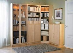 Book storage.