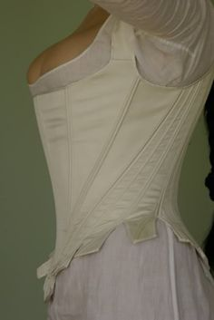 Before the Automobile: white silk 18th century stays