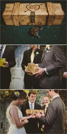 La capsule temporelle, belle idée pour une cérémonie laïque. #wedding #mariage