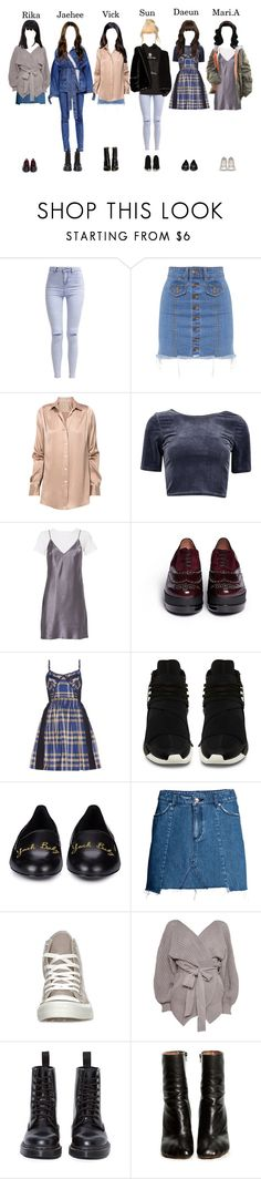 """""""Dinner with Sora"""" by starz-official ❤ liked on Polyvore featuring New Look, RM by Roland Mouret, Fleur du Mal, Robert Clergerie, Miu Miu, Yves Saint Laurent, H&M, Converse, Topshop and Dr. Martens"""