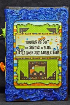 Wild About Scrapbooking - great for that wonderful little boy that is discovering trains, trucks, and plains