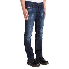 18466097 NEW mens Diesel THAVAR 0831Q Blue SLIM SKINNY STRAIGHT LEG Jeans size W29  L32