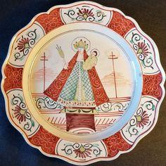 "SPLENDID CREAMWARE POTTERY DUTCH PLATE 18TH ""MARIA VAN KEEVELAAR""  The beautiful plate, with ""Maria Van Keevelaar"" decor.  Condition : little chips.  Diameter : 24,3 cm. £248"