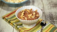 """Dark Chocolate, Coconut and Almond Mousse (Clean Plate Club) - Carla Hall, """"The Chew"""" on ABC. Just Desserts, Delicious Desserts, Dessert Recipes, Yummy Food, Party Recipes, Summer Desserts, The Chew Recipes, Cooking Recipes, Best Baked Ziti Recipe"""