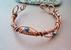 Bracelet Wire Wrapped Jewelry wire wrapped by GearsFactory, €16.00