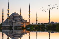 Blue Mosque and Hagia Sophia, Istanbul, Turkey Sultan Ahmed Mosque, Turkey Country, European City Breaks, Capadocia, Iran Travel, Beautiful Mosques, Beautiful Places, Turkey Travel, Istanbul Turkey