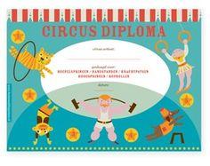 circus feestartikel diploma