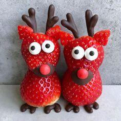 Cute Snacks, Cute Desserts, Cute Food, Fruit Presentation, Strawberry Art, Food Art For Kids, Childrens Meals, Creative Food Art, Food Carving