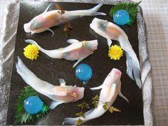 Ces sushis ressemblent à de vraies carpes koïs