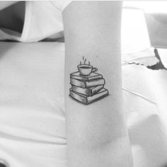 coffee and books tattoo