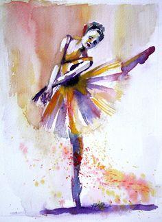 watercolor. ballerina
