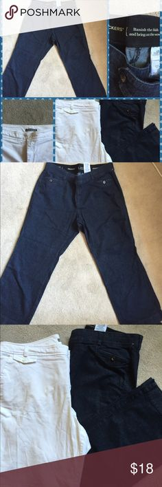 🎉 BOGO 🎉Ladies Dockers Jeans & Short Bundle- 20W Both of these bottoms are extremely comfortable. Excellent used condition.  BOGO 50% plus bundle discount. Let me know which pieces you want and I will adjust BOGO discount. Dockers Jeans